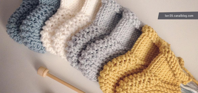 Tuto tricot de chaussons pour bébé au point mousse : simple et rapide !