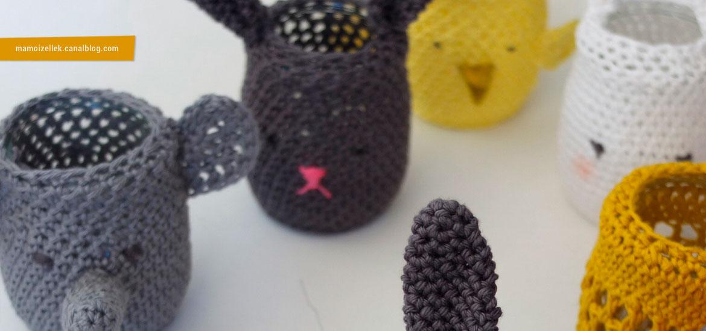 Crocheter des cache-pots pour Pâques