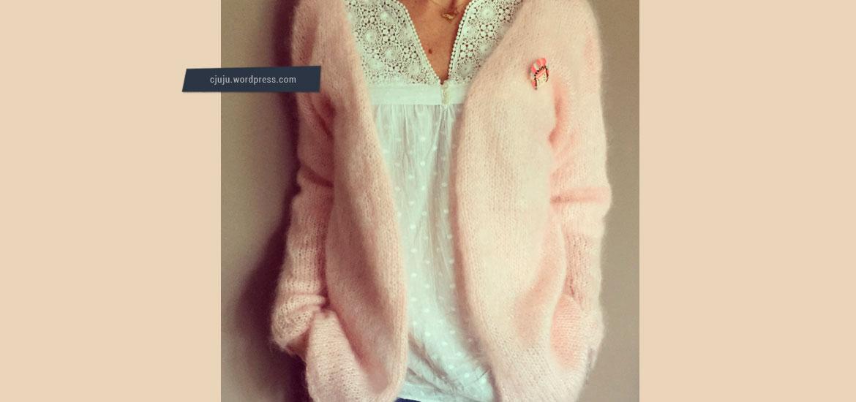 Tricoter un pull effet plume léger mohair pour femme