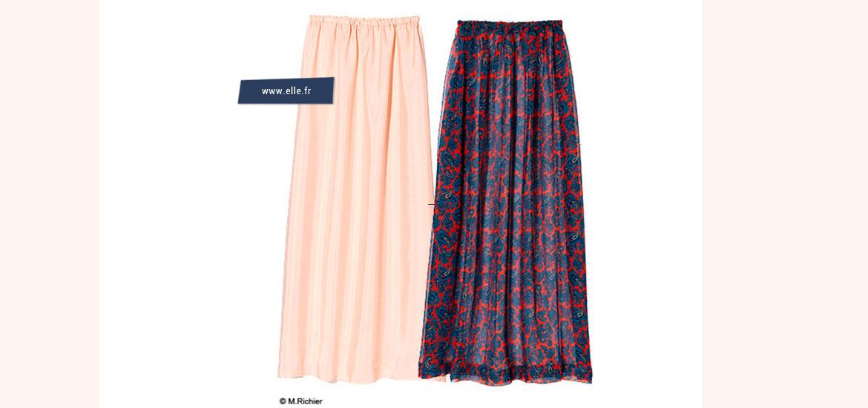 Tutoriel simple et gratuit de jupe longue et ample avec taille élastique